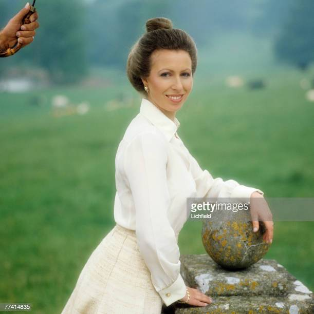 The Princess Anne in the grounds of her home at Gatcombe Park, Gloucestershire on 10th June 1980. Part of a series of photographs to commemorate...