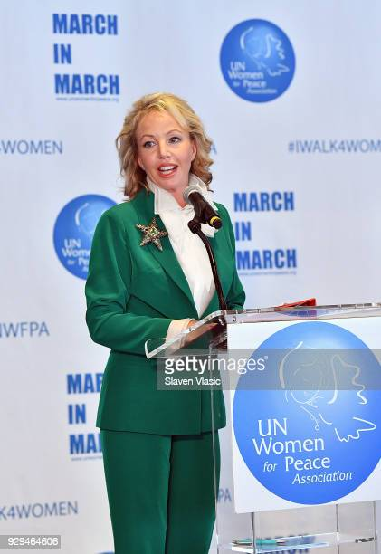 HRH the Princess Camilla of Bourbon Two Sicilies Duchess of Castro attends International Women's Day United Nations Awards Luncheon on March 8 2018...