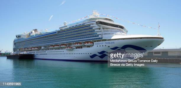 The Princess Cruise Line ship Emerald Princess is docked at the Port of Los Angeles in San Pedro on Thursday Apr 18 2019 The ship arrived Thursday...