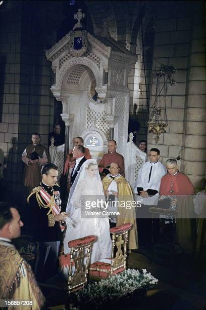 The Princess Grace And The Prince Rainier Iii Of Monaco The Religious Marriage Civil And Evening CŽrŽmonie du mariage en la cathŽdrale SaintNicolas ˆ...