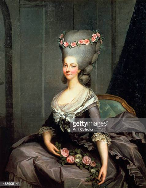 'The Princess Lamballe' late 18th century MarieThereseLouise de SavoieCarignan Princesse de Lamballe the intimate friend of Queen Marie Antoinette...