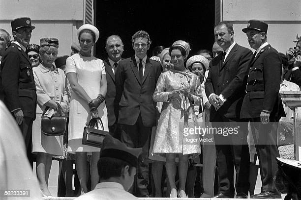The Princess Margaret and her husband Tony ArmstrongJones to the Cannes festival 1966 HA195526