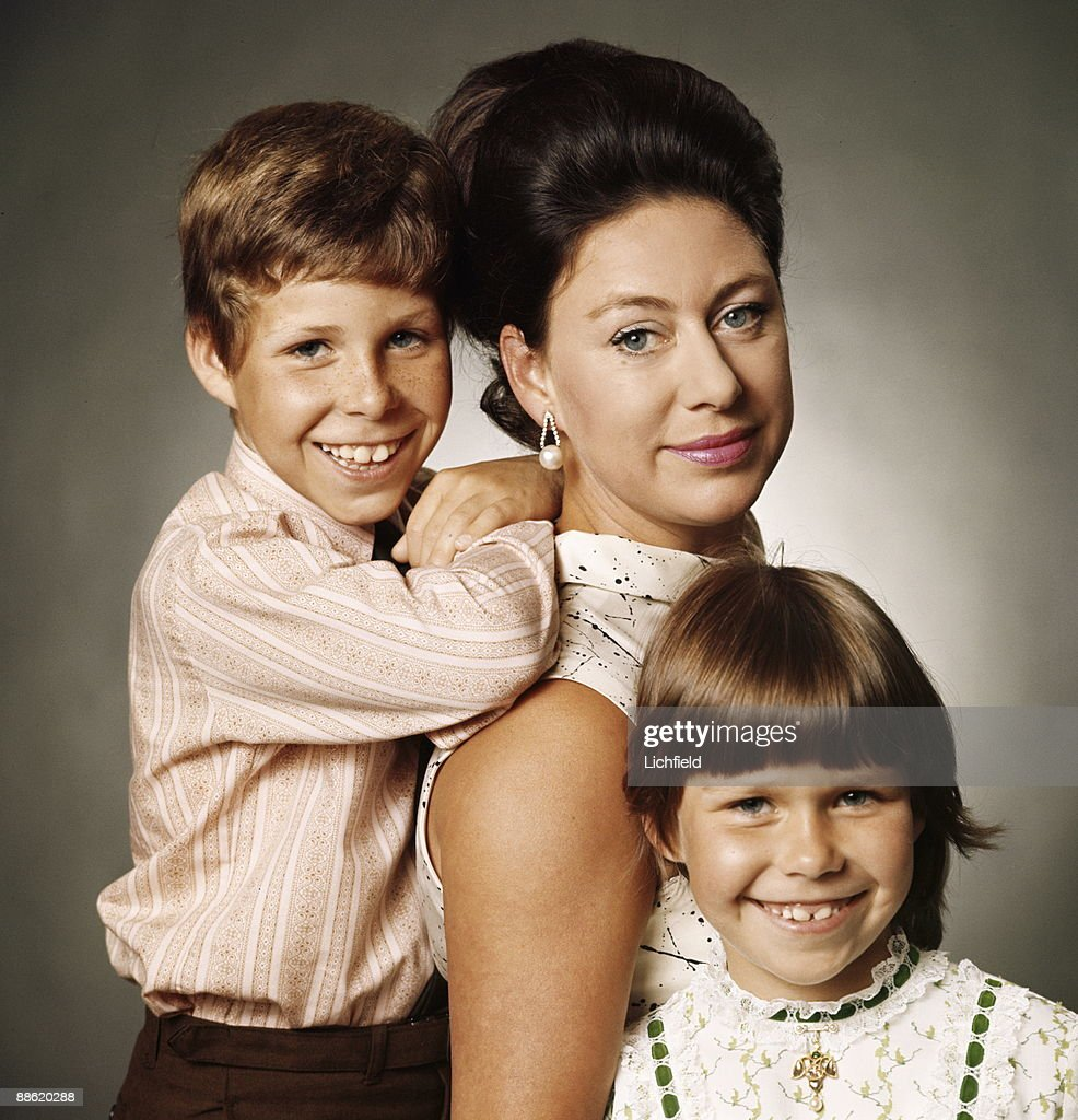 Hrh The Princess Margaret Photographed With Her Children Viscount
