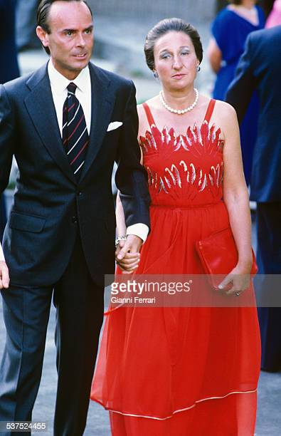 The Princess Margarita of Bourbon sister of King Juan Carlos de Borbon with her husband Carlos Zurita Madrid Spain