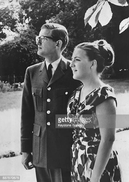 The Princess Margriet with her fiance Pieter van Vollenhoven who wears the uniform because he completed his military service on December 12 1966 in...