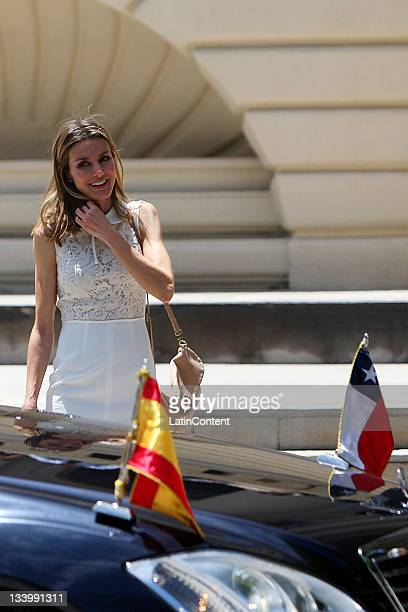 The Princess of Asturias Letizia Ortiz retires today Wednesday November 23 at the opening of the photographic exhibition by Spanish artist Chema...