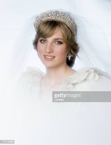 The Princess of Wales after her wedding at Buckingham Palace on 29th July 1981. .