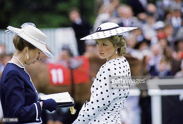 The Princess Of Wales And Princess Anne Attending The Derby In Epsom Surrey
