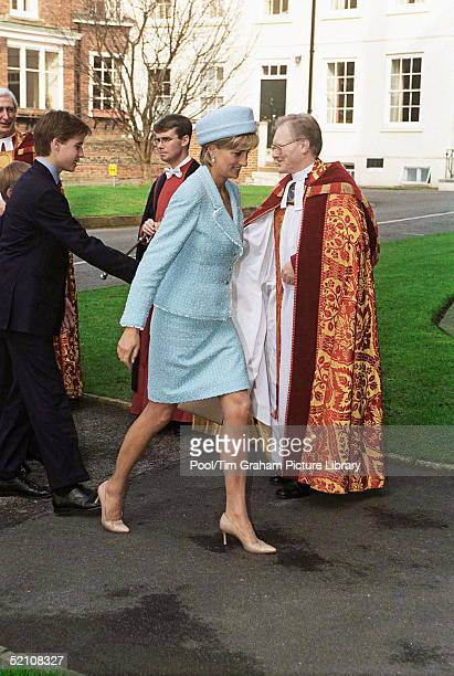 The Princess Of Wales Arrives At St George's Chapel For Her Son's Confirmation