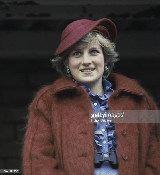 The Princess of Wales at Aintree racecourse for the Grand National, 3rd April 1982.