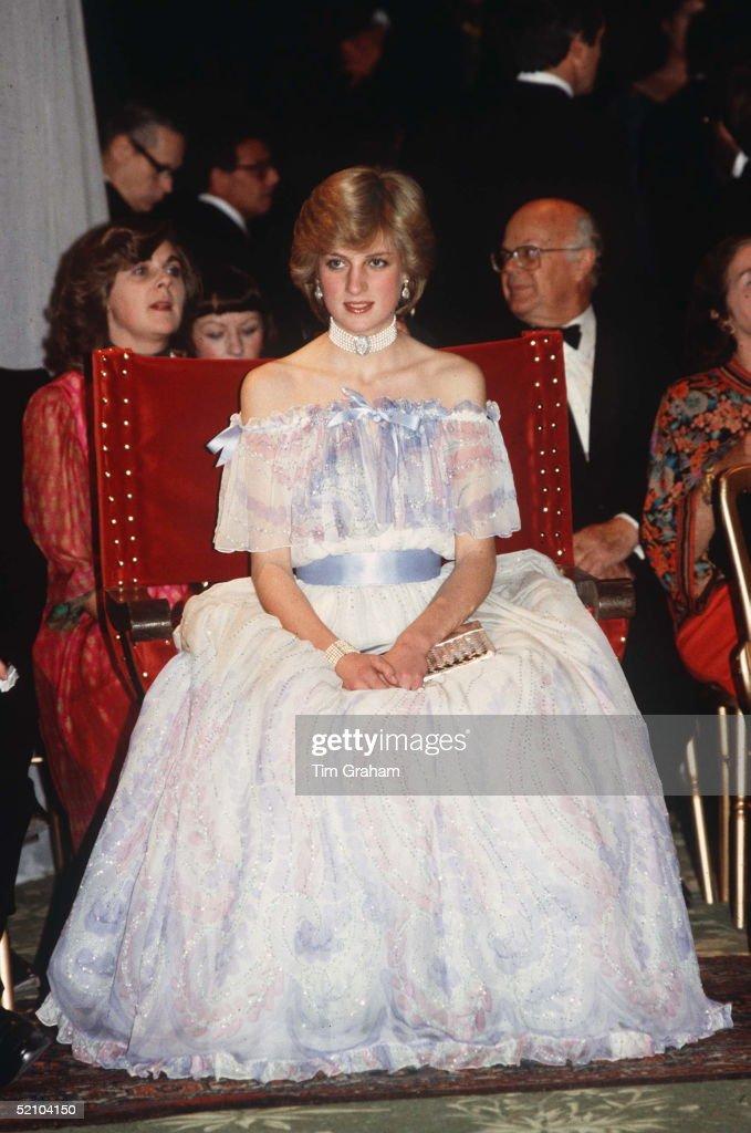 Diana Bellville Sassoon Dress : News Photo
