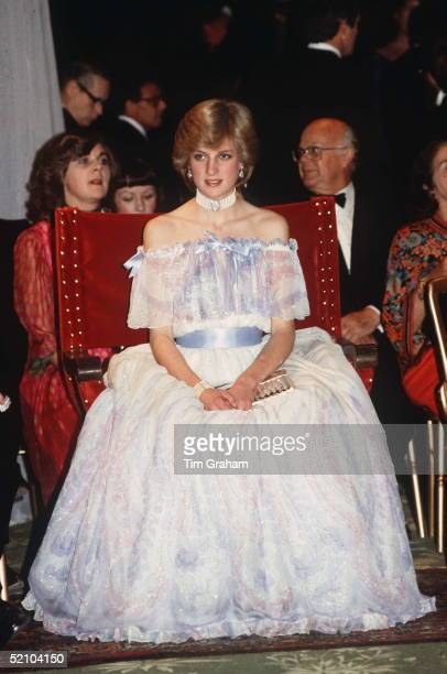 """The Princess Of Wales At """"splendours Of The Gonzaga"""" Exhibition At The Victoria And Albert Museum Wearing A Dress Designed By Fashion Designers..."""