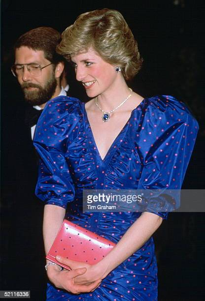 The Princess Of Wales Attending The World Festival Of Arts Opera Performance In Canada Wearing A Dress Designed By Fashion Designer Bruce Oldfield