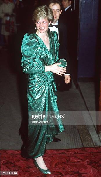 The Princess Of Wales Attends A Charity Performance Of 'high Society' At The Victoria Palace Theatre In Aid Of 'help The Hospices'