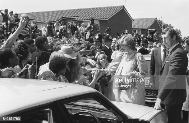 The Princess of Wales greets the crowd after opening the New Albany Community Centre in Deptford London She expects her first child next month *Low...