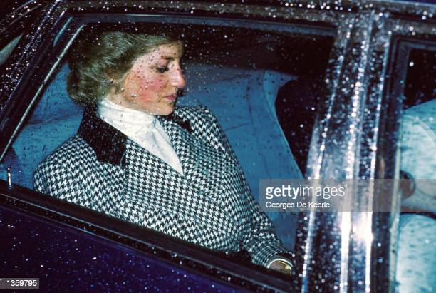 The Princess of Wales is driven back home after a visit to Scotland Yard March 14 1988 in London England Princess Diana 36yearsold died with her...