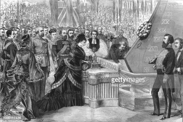 The Princess of Wales launching the new ironclad ship 'Alexandra' 1875 Launch of HMS Alexandra a central battery ironclad of the Victorian Royal Navy...