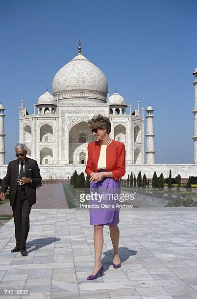 The Princess of Wales outside the Taj Mahal in Agra 11th February 1992