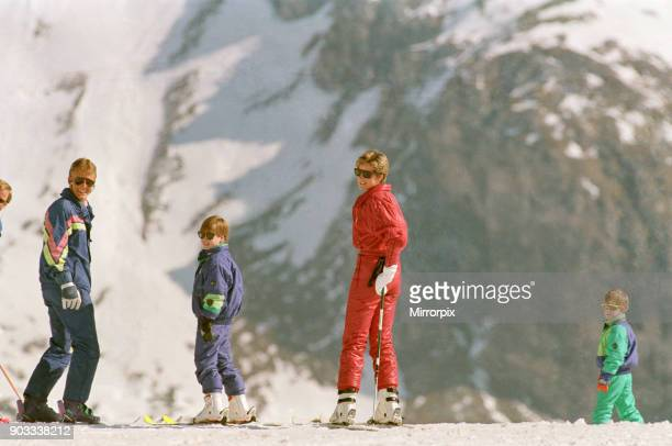The Princess of Wales Princess Diana and her sons William and Harry on a ski holiday to Switzerland Prince Charles is to join them after he has...