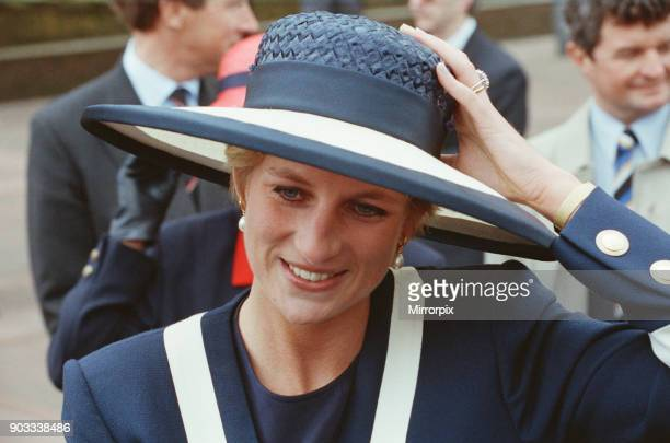 The Princess of Wales Princess Diana and The Prince of Wales Prince Charles visit Liverpool For The Battle Of The Atlantic Service The 50th...