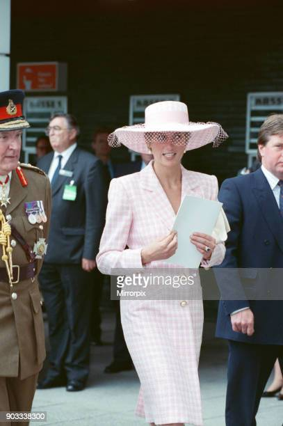The Princess of Wales Princess Diana and The Prince of Wales visit Munster in Germany They attended a Gulf War Victory Thanksgiving Luncheon The Gulf...