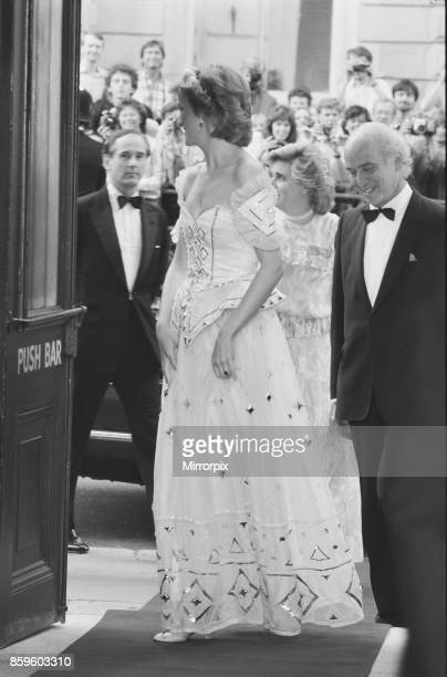 The Princess of Wales, Princess Diana arrives at the Royal Opera House for the Royal Charity Premiere of Ivan The Terrible by the Bolshoi Ballet,...