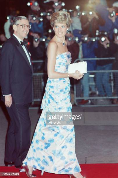 The Princess of Wales Princess Diana attends Covent Garden Royal Opera House to see Romeo and Juliet Still golden from her Caribbean holiday she...