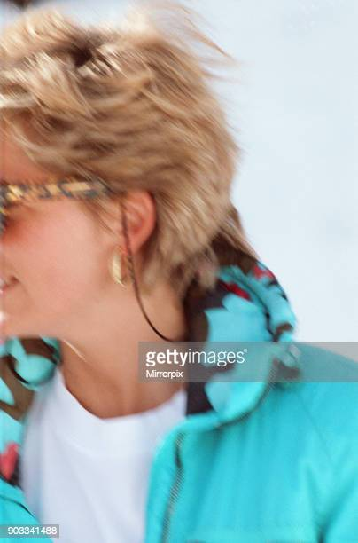 The Princess of Wales Princess Diana enjoys a ski holiday in Lech Austria Prince William and Prince Harry join her for the trip Picture taken 1st...