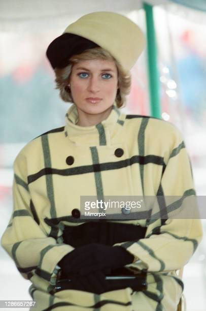 The Princess of Wales, Princess Diana, enroute, on the ferry to The Isle of Wight, Picture taken 6th December 1988.