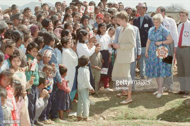The Princess of Wales, Princess Diana, in Nepal. The Princess visited Nepal between 2nd and the 6th March 1993 Nepal, officially the Federal...