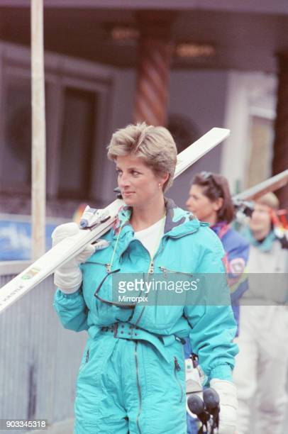The Princess of Wales Princess Diana on a ski holiday to Switzerland Prince Charles is to join them after he has completed some engagements Other...