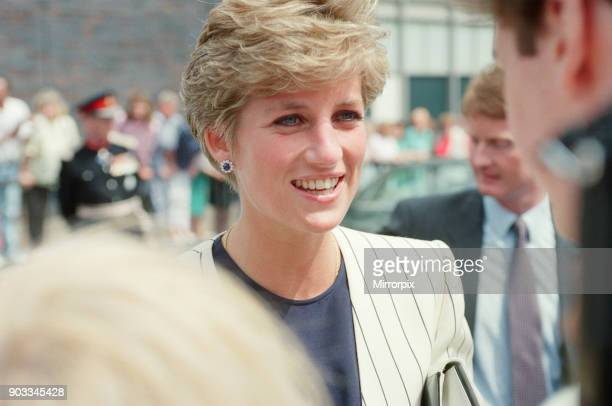 The Princess of Wales Princess Diana on a walkabout in Sheffield and Rotherham Picture possibly taken at Sheffield's Harris Birthright Research...