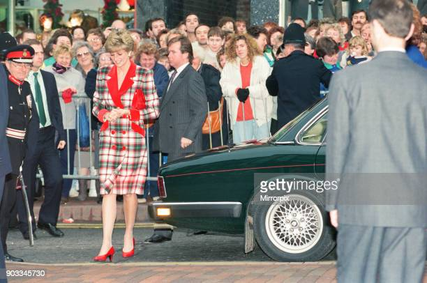 The Princess of Wales Princess Diana visits Didsbury and Wigan in the North West of England On the visit The Princess also opened Francis House...