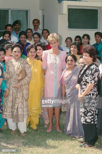 The Princess of Wales, Princess Diana visits Islamabad, Pakistan in September 1991. In Islamabad, the Princess visited the Welfare Centre At Noorpur,...