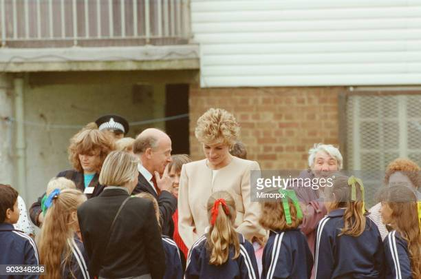 The Princess of Wales Princess Diana visits Oxford today Her Royal Highness Patron Guinness Trust this morning visited the Community Flat Newlands...