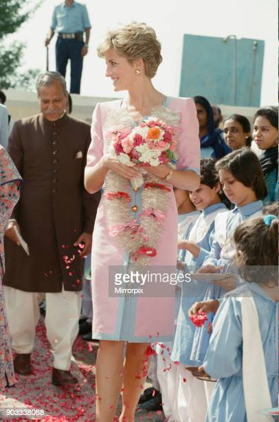 The Princess of Wales Princess Diana visits Pakistan in September 1991 In this picture she visits a school during a visit to Islamabad Pakistan The...