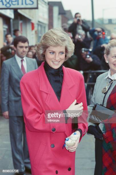 The Princess of Wales Princess Diana visits the Relate Marriage Guidance Centre in Barnet north London 29th November 1988