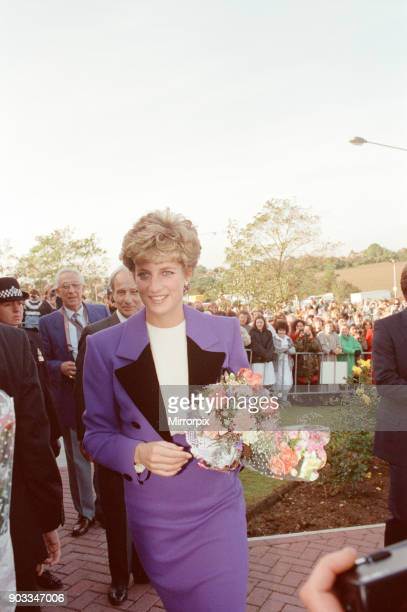 The Princess of Wales Princess Diana visits Tunbridge Wells Kent to open the new Royal Victoria Place shopping centre Picture taken 21st October 1992