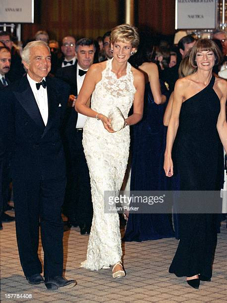 The Princess Of Wales Visits WashingtonGala Charity Dinner With Ralph Lauren Anna Wintour