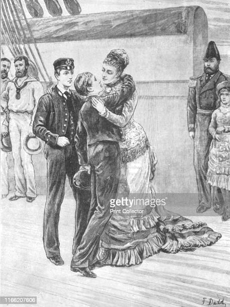The Princess of Wales Welcoming her Sailor Sons on their Return from their Cruise on the 'Bacchante', May 3, 1880', . Princess Alexandra of Denmark...