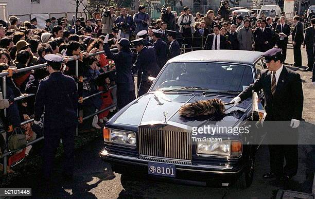 The Princess Of Wales's Car In Tokyo Japan