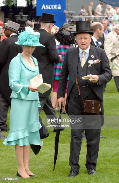 HRH The Princess Royal and Andrew ParkerBowles attend Ladies Day at Royal Ascot June 21 2007