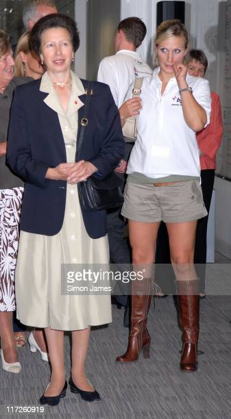 HRH The Princess Royal and Zara Phillips during BGC Partners Fundraising Event Photocall September 11 2006 at Canary Wharf in London Great Britain