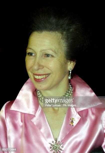 The Princess Royal as she arrives for the Save The Children Festival of Trees at the Natural History Museum in London The Princess was guest of...