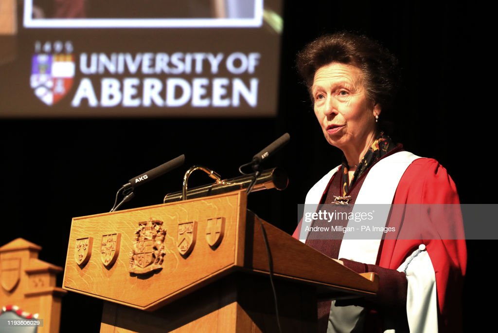 Princess Royal honorary degree : News Photo