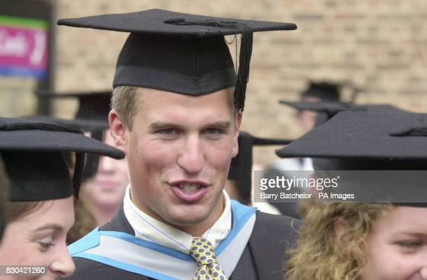 The Princess Royal's son Peter Phillips receives his degree at a ceremony at Exeter University. The Princess was joined by her daughter Zara and...