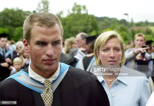 The Princess Royal's son Peter Phillips with friend Elizabeth Iorio at his graduation ceremony at Exeter University The Princess Royal was joined by...