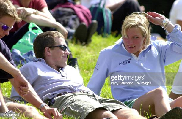 The Princess Royal's son Peter Phillips with his friend Elizabeth Iorio watching the Doubleprint British Horse Trials Championships at Gatcombe Park...