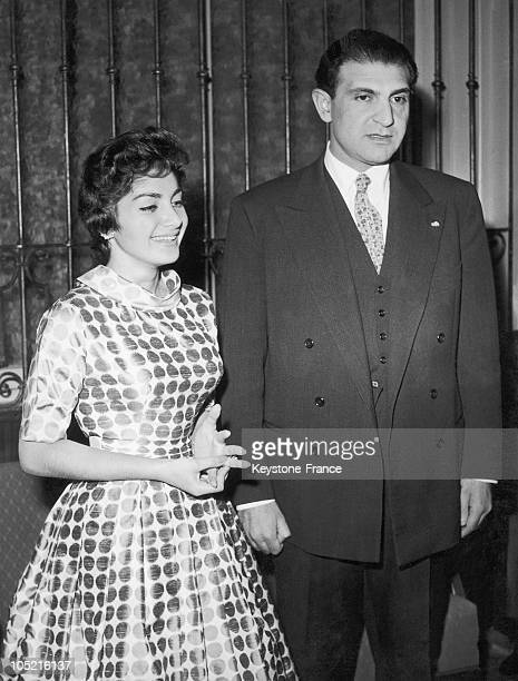 The Princess Shahnaz Pahlavi Daughter Of The Shah Of Iran And Her Husband Ardeshir Zahedi In Munich On November 17 1957