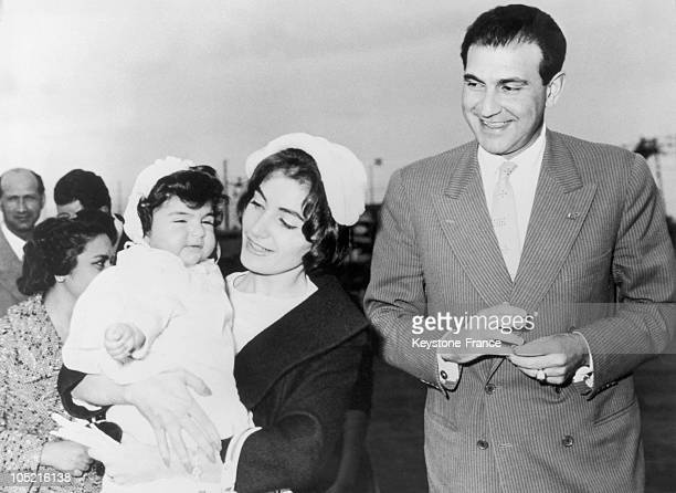 The Princess Shahnaz Pahlavi Daughter Of The Shah Of Iran With Her Husband Ardeshir Zahedi And Their Daughter The Princess Zahra Mahnaz In Rome On...